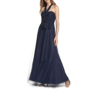 Jenny Yoo Navy Annabelle convertible tulle dress